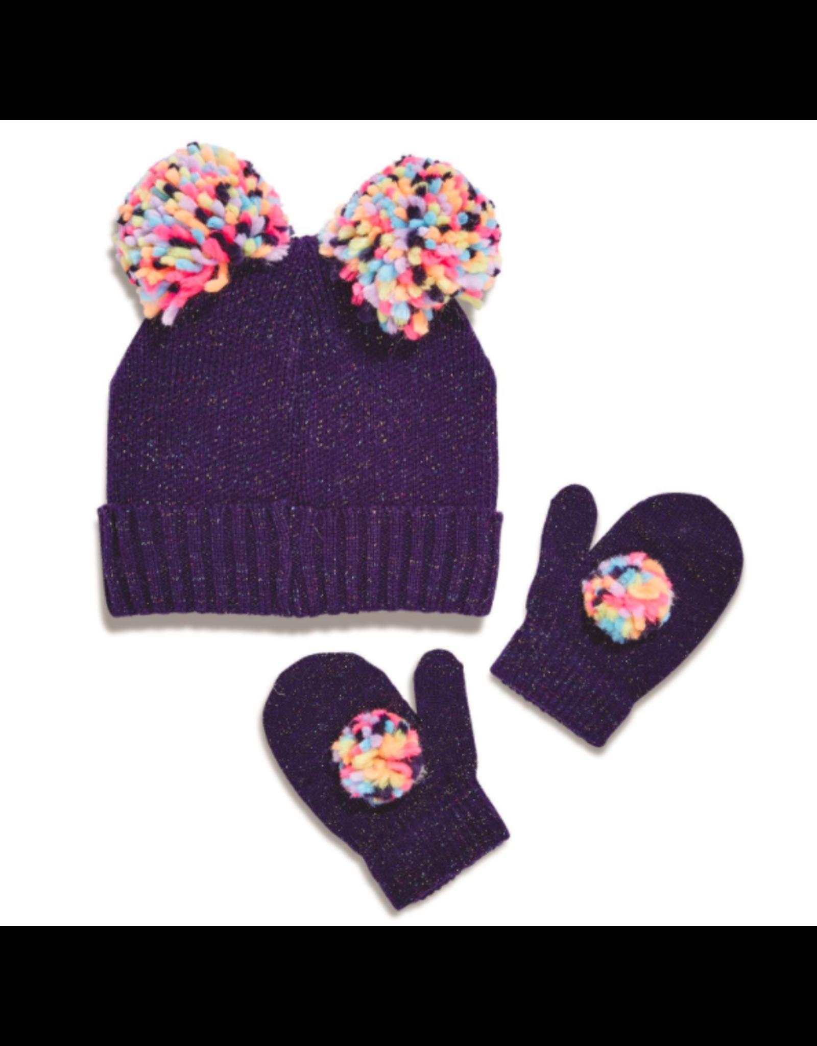 Pom Pom Hat and Mitten Set