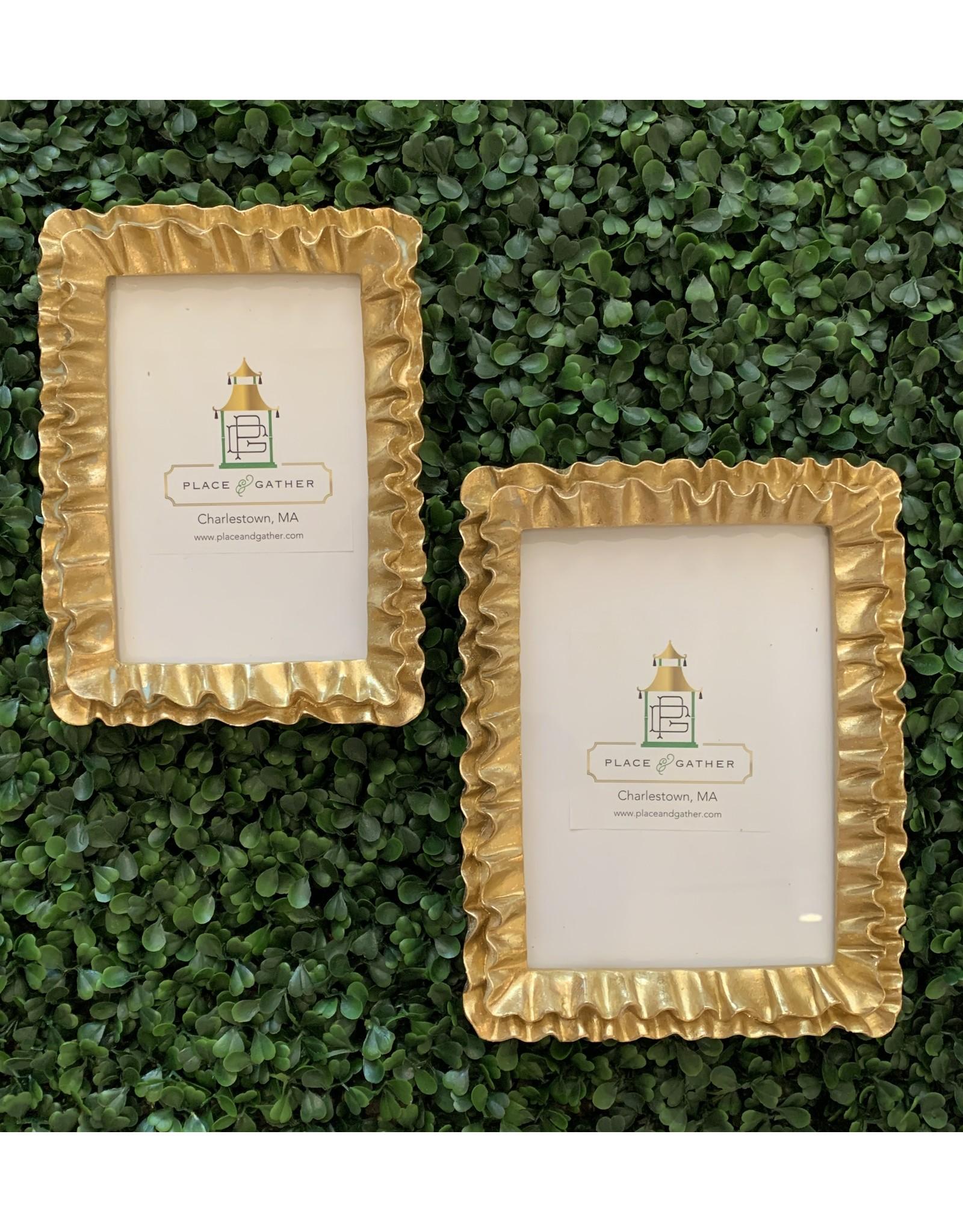 Gold Ruffle 5x7 Frame