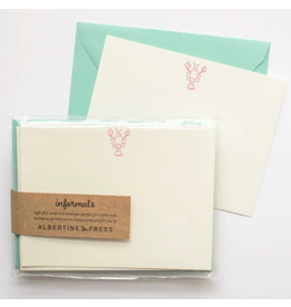 Albertine Press Lobster Informals Note Card Set