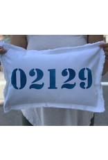 Marshes Fields and Hills 02129 12 x 18 Pillow in Nautical Blue