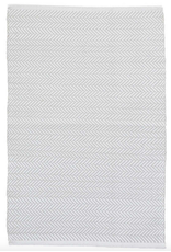 Dash & Albert Herringbone Pearl Grey Indoor Outdoor Rug 2x3