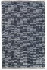 Dash & Albert Herringbone Indigo Cotton Rug 2x3