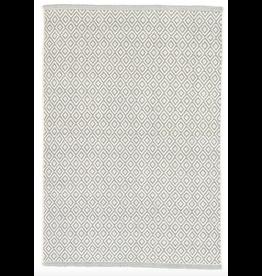 Dash & Albert Lattice Swedish Blue Cotton Rug 2x3