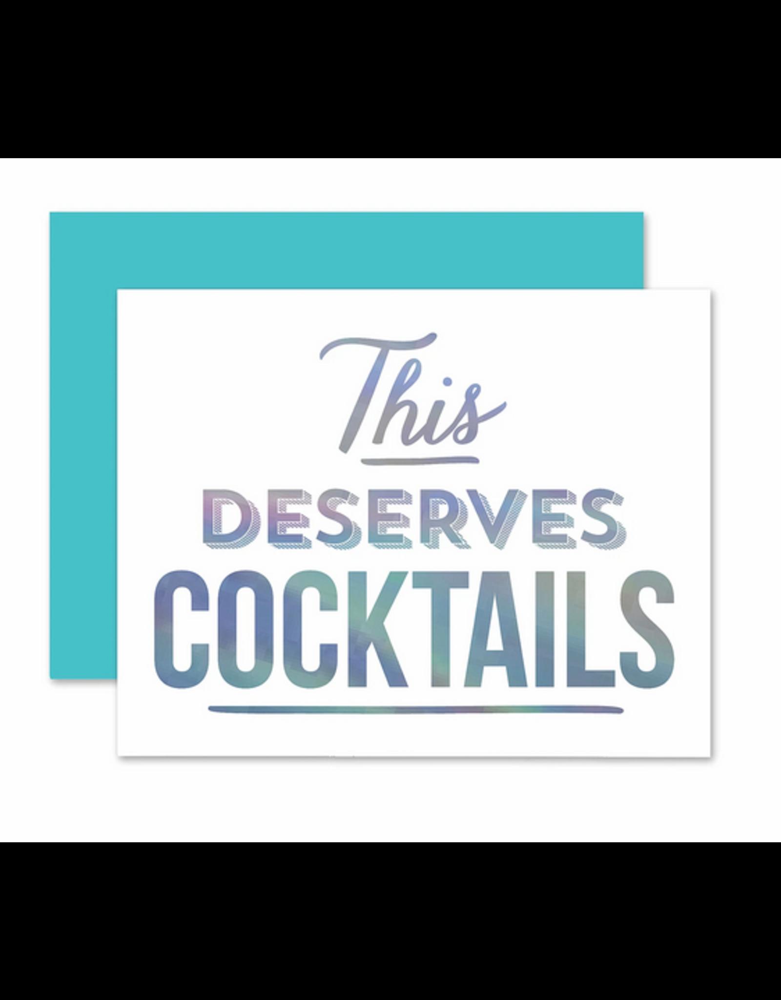 The Social Type Deserves Cocktails Card