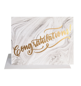 The Social Type Congrats Marble Card