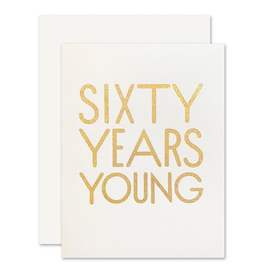 The Social Type 60 Years Young Card