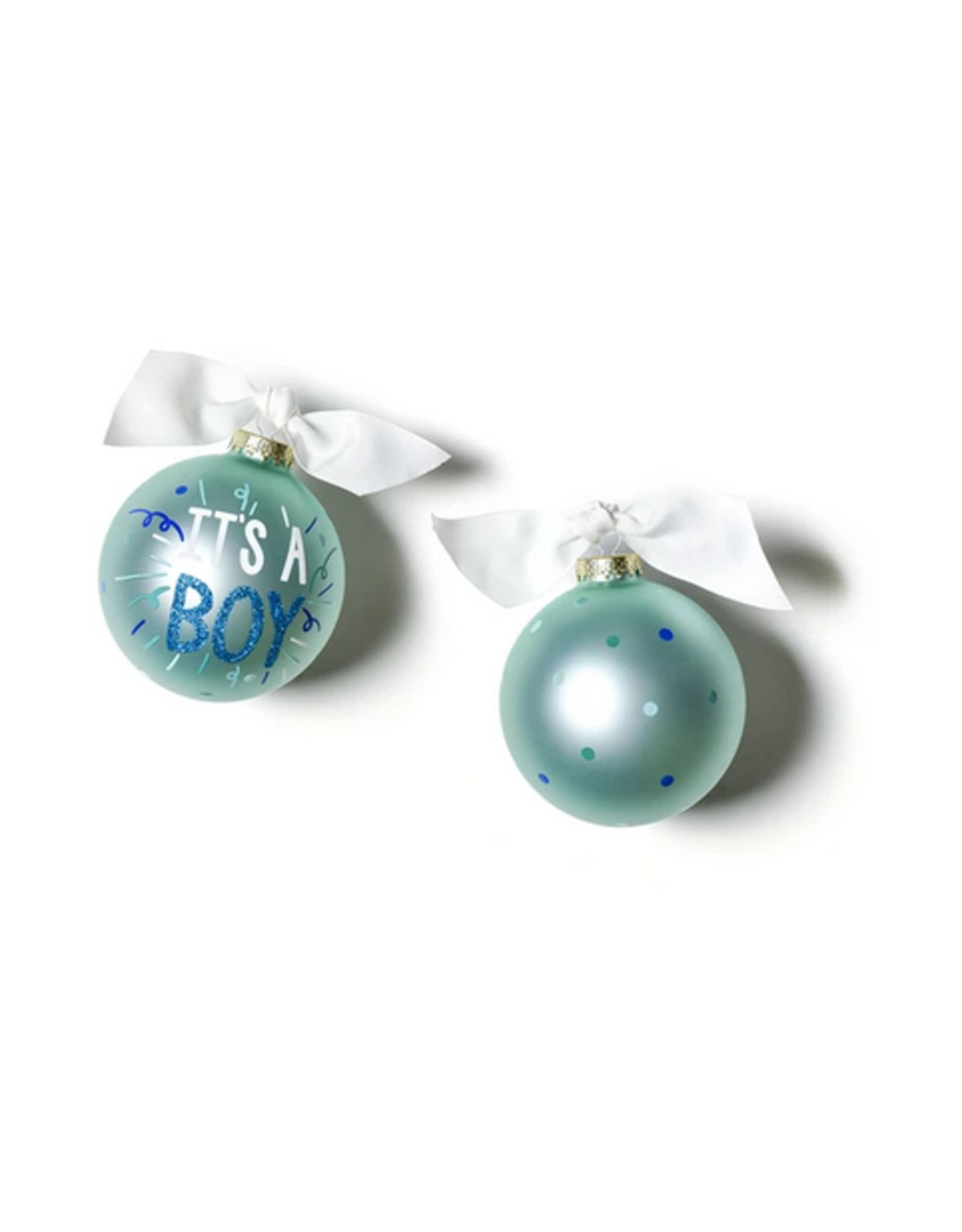 Coton Colors It's a Boy Popper Glass Ornament