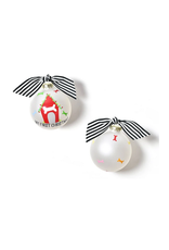 Coton Colors My First Christmas Doghouse Glass Ornament