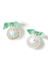 Coton Colors You're the Greatest Friend Bright Confetti Glass Ornament