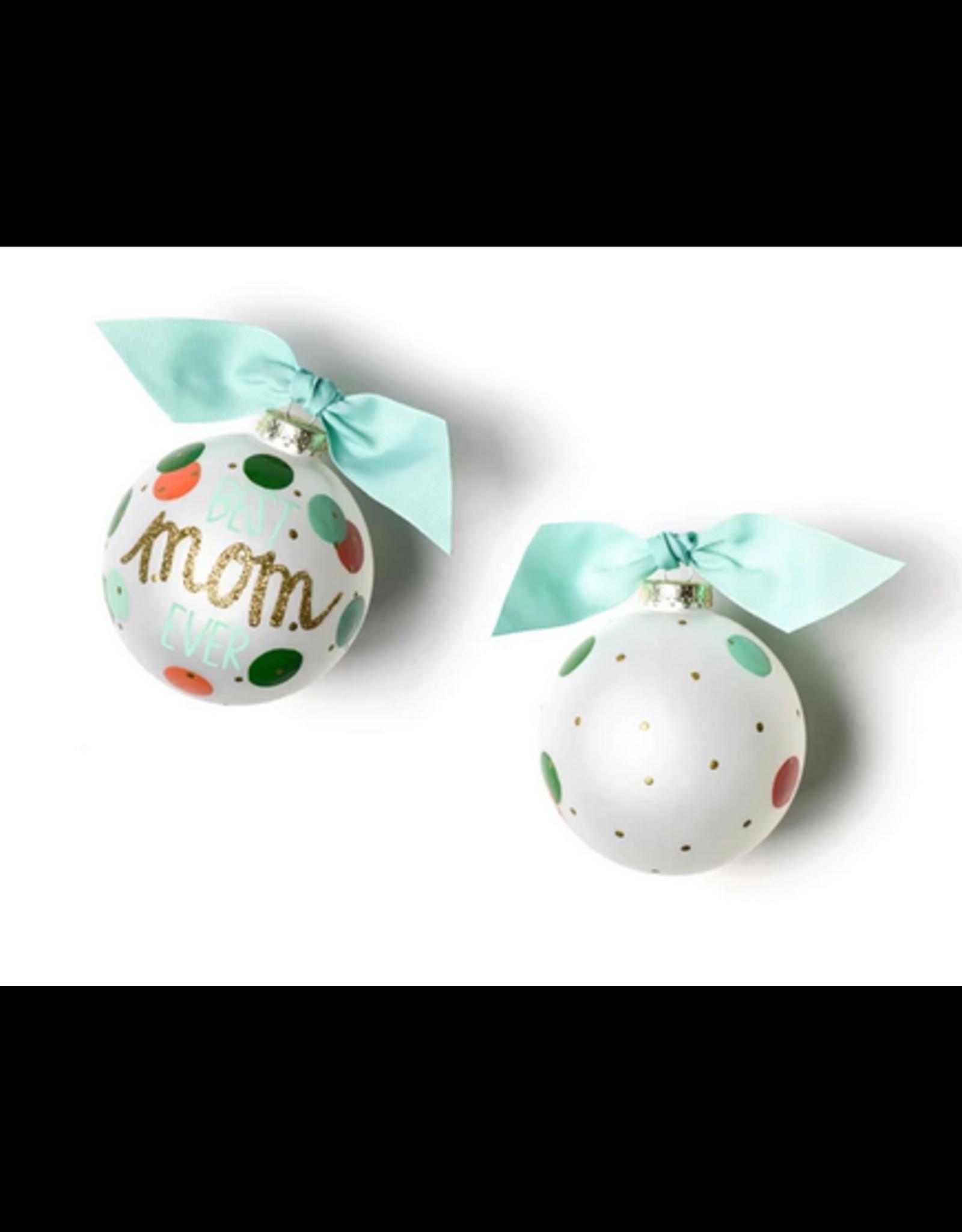 Coton Colors Best Mom Ever Glass Ornament