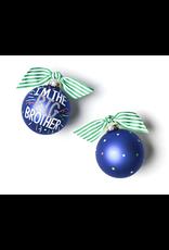 Coton Colors Big Brother Popper Glass Ornament