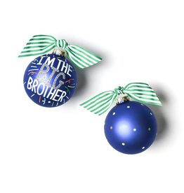 Coton Colors Big Brother Popper Glass Ornament