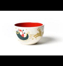 Coton Colors Vintage Christmas Village Appetizer Bowl