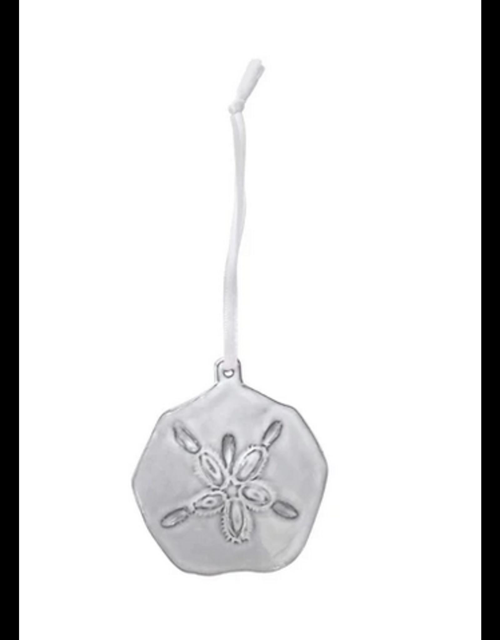 Mariposa Sand Dollar Ceramic Ornament
