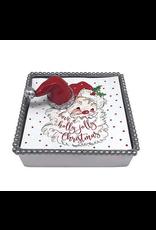 Mariposa Red Santa Hat Beaded Napkin Box