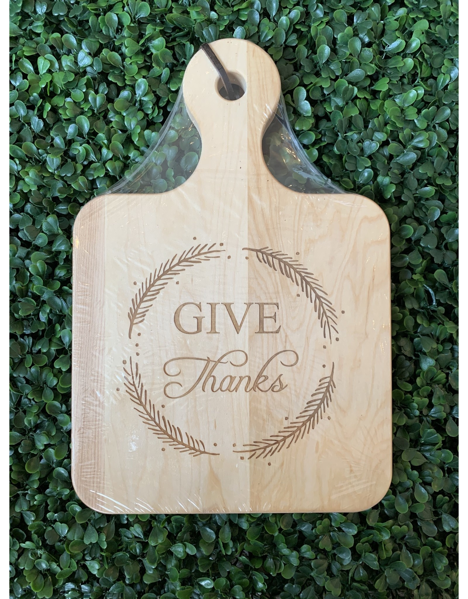 Maple Leaf at Home Give Thanks 12x8 Maple Artisan Board