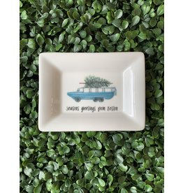 Dishique Duckboat with Tree Mini Dish