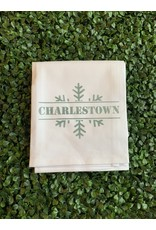 Marshes Fields and Hills Charlestown Snowflake Tea Towel