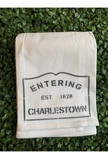 Marshes Fields and Hills Entering Charlestown Tea Towel in Hale Navy