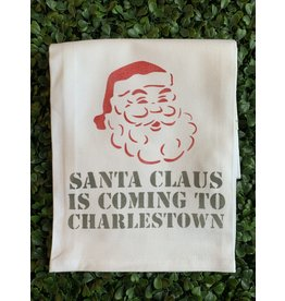 Marshes Fields and Hills Santa Charlestown Tea Towel