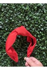 Silk Knot Red Headband