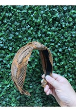 Brown Python Knot Headband