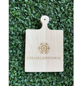 Maple Leaf at Home Charlestown with Snowflake 9x6 Maple Handled Board