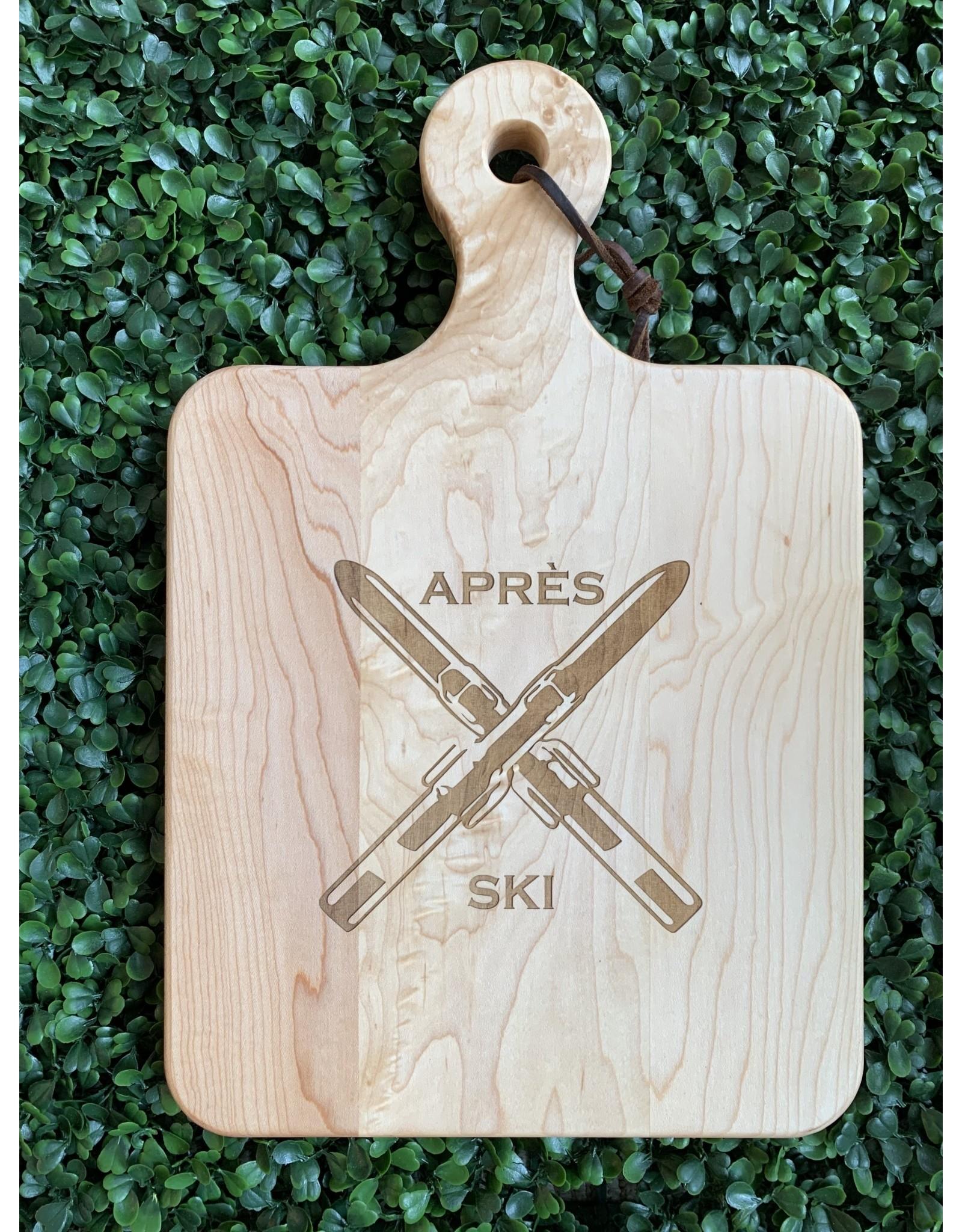 Maple Leaf at Home Apres Ski 14x9 Handled Maple Artisan Board