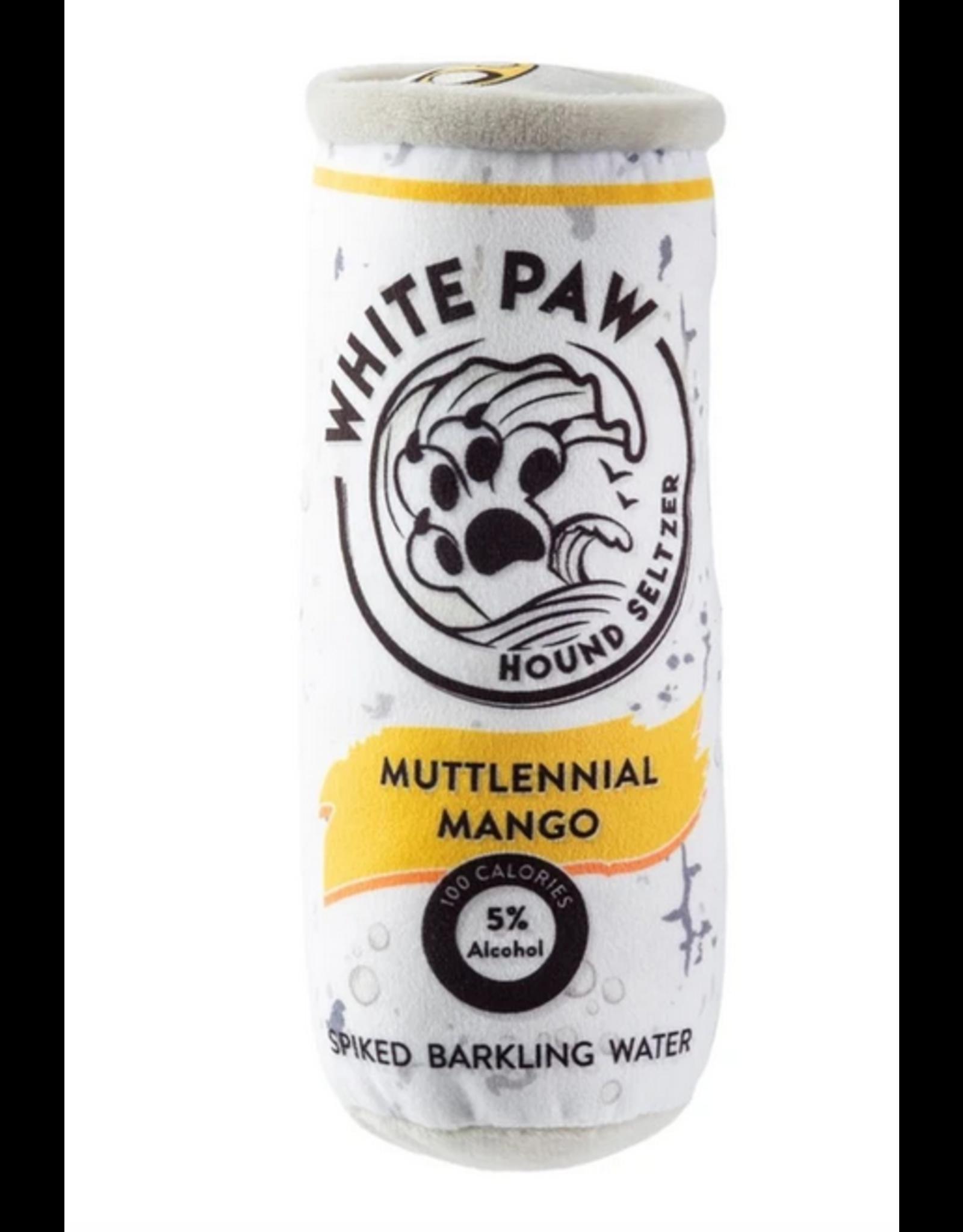 Haute Diggity Dog White Paw Mango Dog Toy