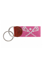 Smathers & Branson Crossed Lax Sticks Key Fob in Pink
