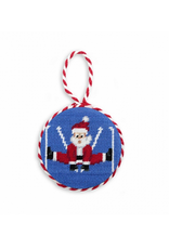 Smathers & Branson Skiing Santa Ornament