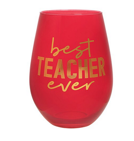 Slant Collections Best Teacher Ever Jumbo Stemless Wineglass