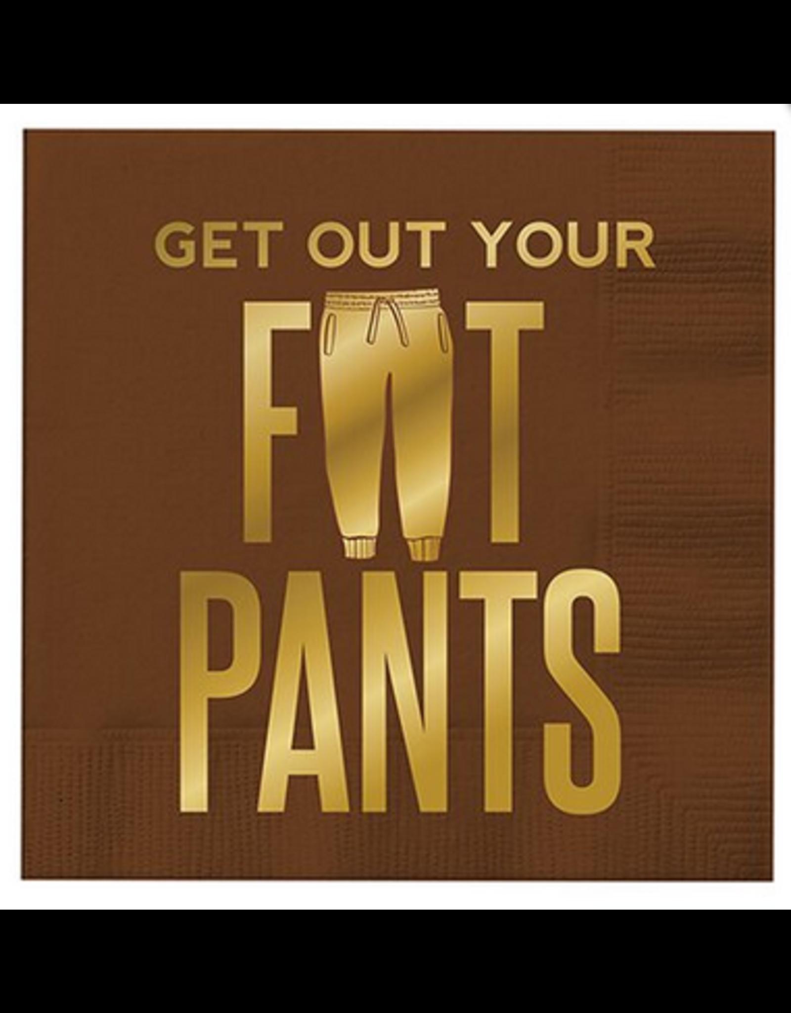 Slant Collections Fat Pants Cocktail Napkins