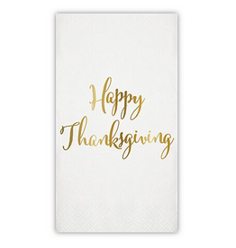 Slant Collections Happy Thanksgiving Paper Guest Towel