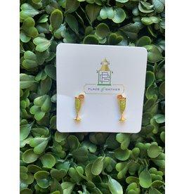 Prep Obsessed Mimosa Signature Stud Earrings