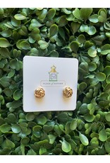 Prep Obsessed Knotted Stud Earrings in Gold