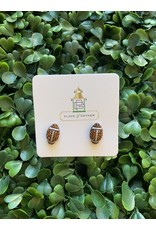 Prep Obsessed Petite Pave Football Stud Earrings