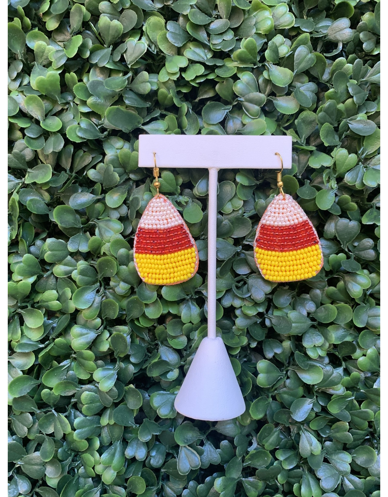 Prep Obsessed Beaded Candy Corn Statement Earring