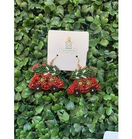 Prep Obsessed Beaded Christmas Tree Car Drop Earrings
