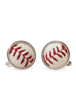 Tokens & Icons Red Sox Baseball Cuff Links