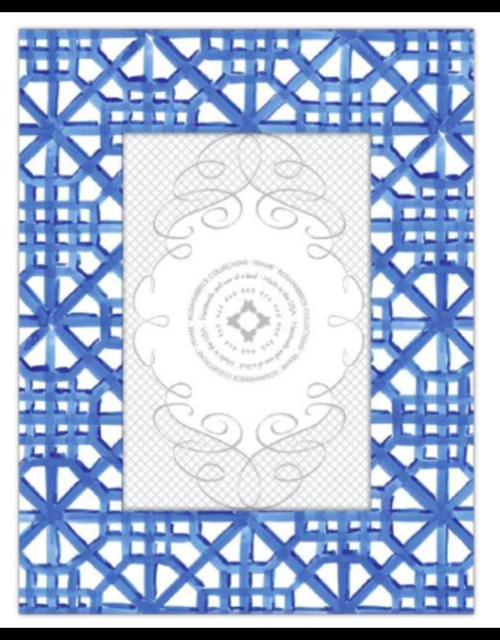 Navy Tile Pattern Frame 4x6