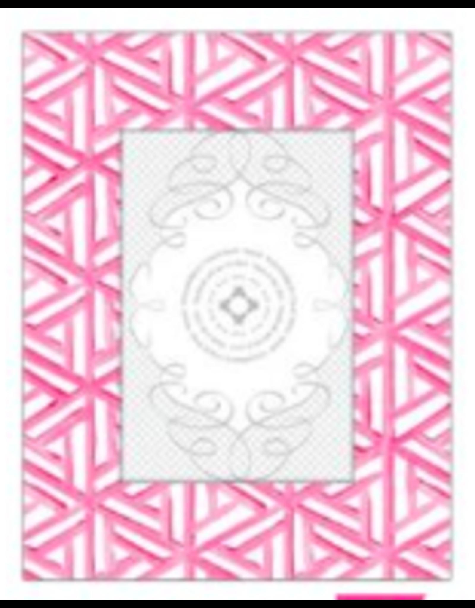 Hot Pink Tile Pattern Frame 4x6