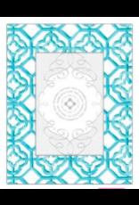 Aqua Tile Pattern Frame 4x6