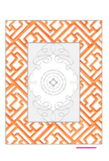 Tangerine Lattice Pattern Frame 4x6