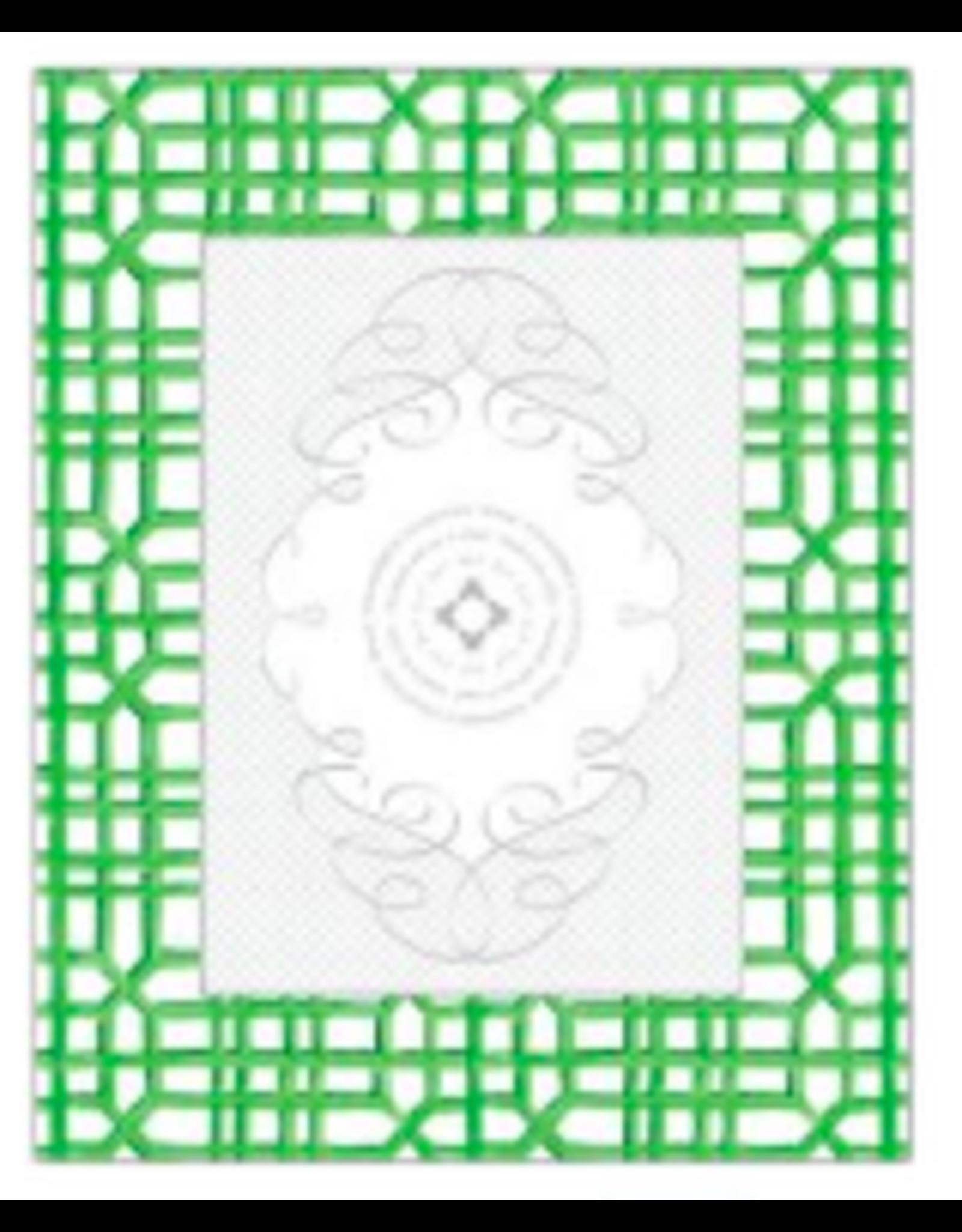 Green Handpainted Lattice Frame 5x7
