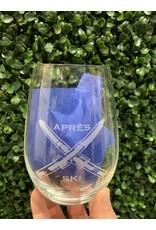Maple Leaf at Home Apres Ski Wine Glass