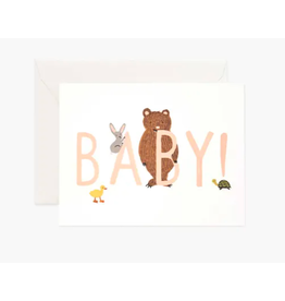 Rifle Paper Co. Baby! Card in Peach
