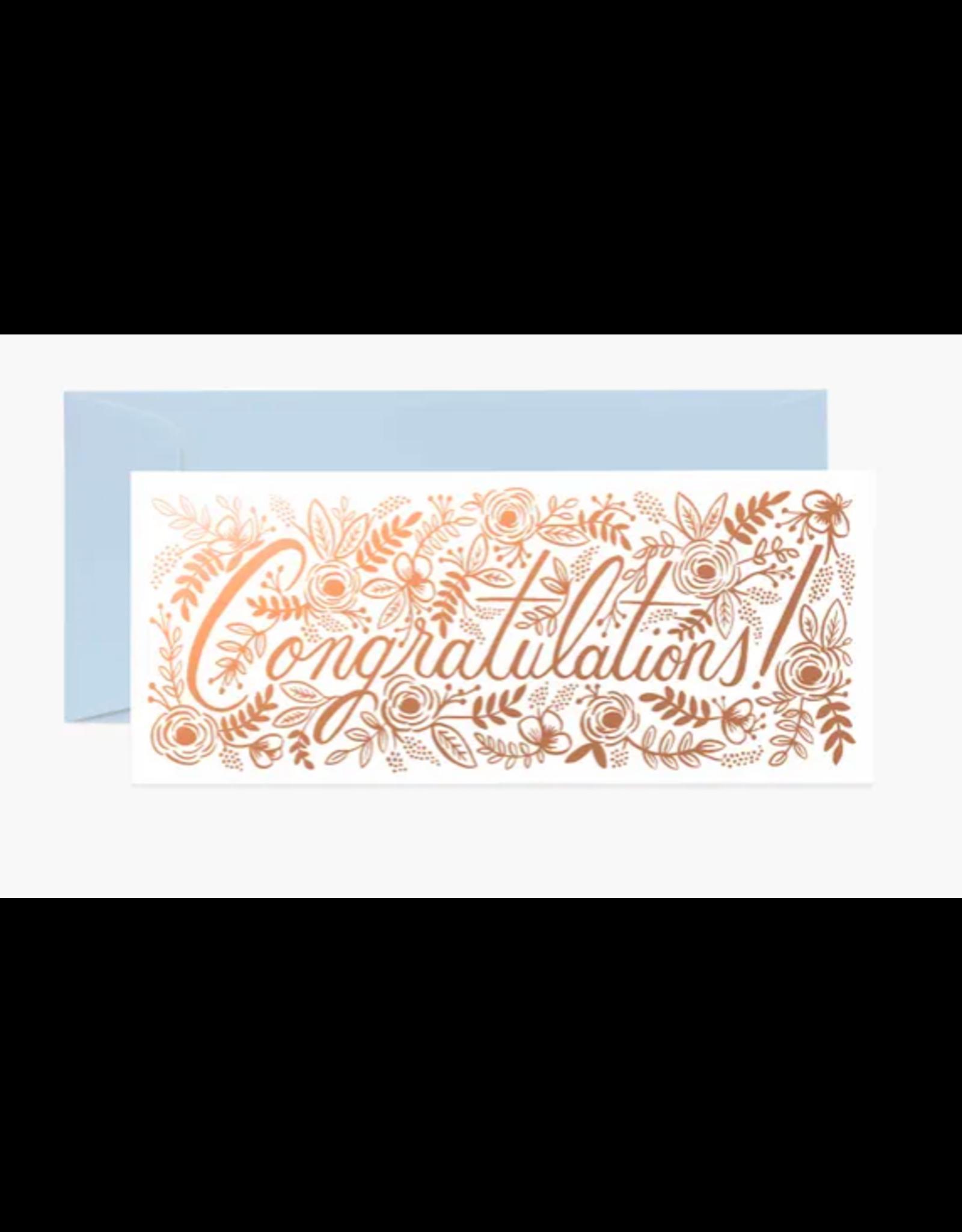 Rifle Paper Co. Champagne Floral Congrats No. 10 Card