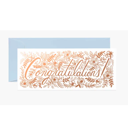 Rifle Paper Co. Champagne Floral Congrats No. 10 Card