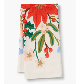 Rifle Paper Co. Holiday Bouquet Tea Towel
